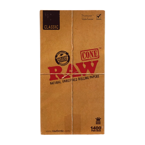 RAW Pre-Rolled Cones Classic King Size 109 mm - 1400 units - weed packaging and beyond