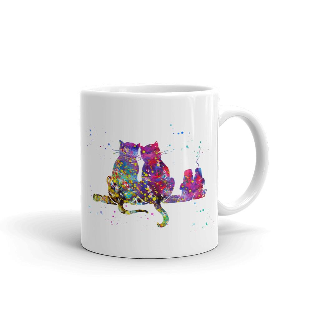 Glittery Rainbow Cats - Mug - Cats On Catnip