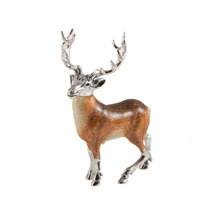Silver Enamel Stag - Small