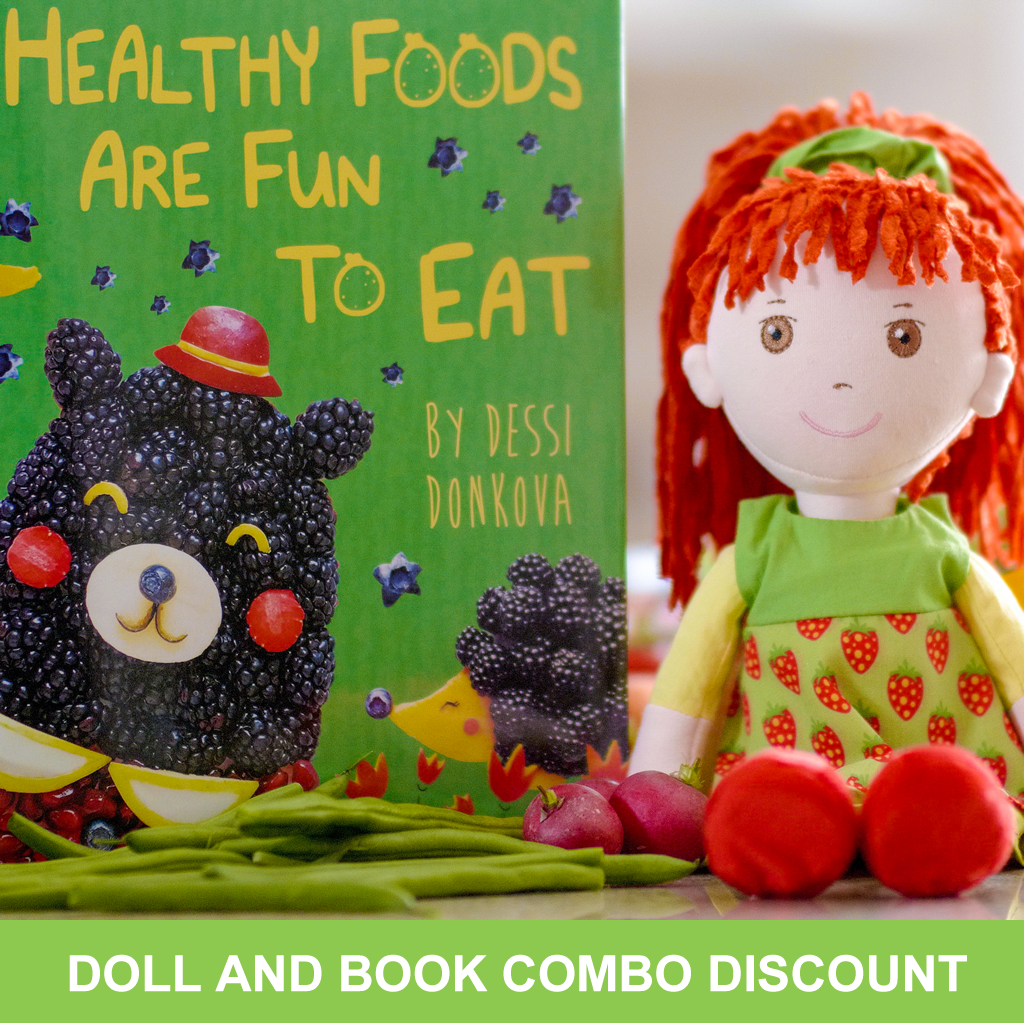 The Charming Healthy Eating Doll and Book Combo