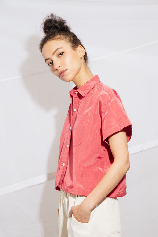 CORSO BUTTONDOWN - ROUGE MOIRE