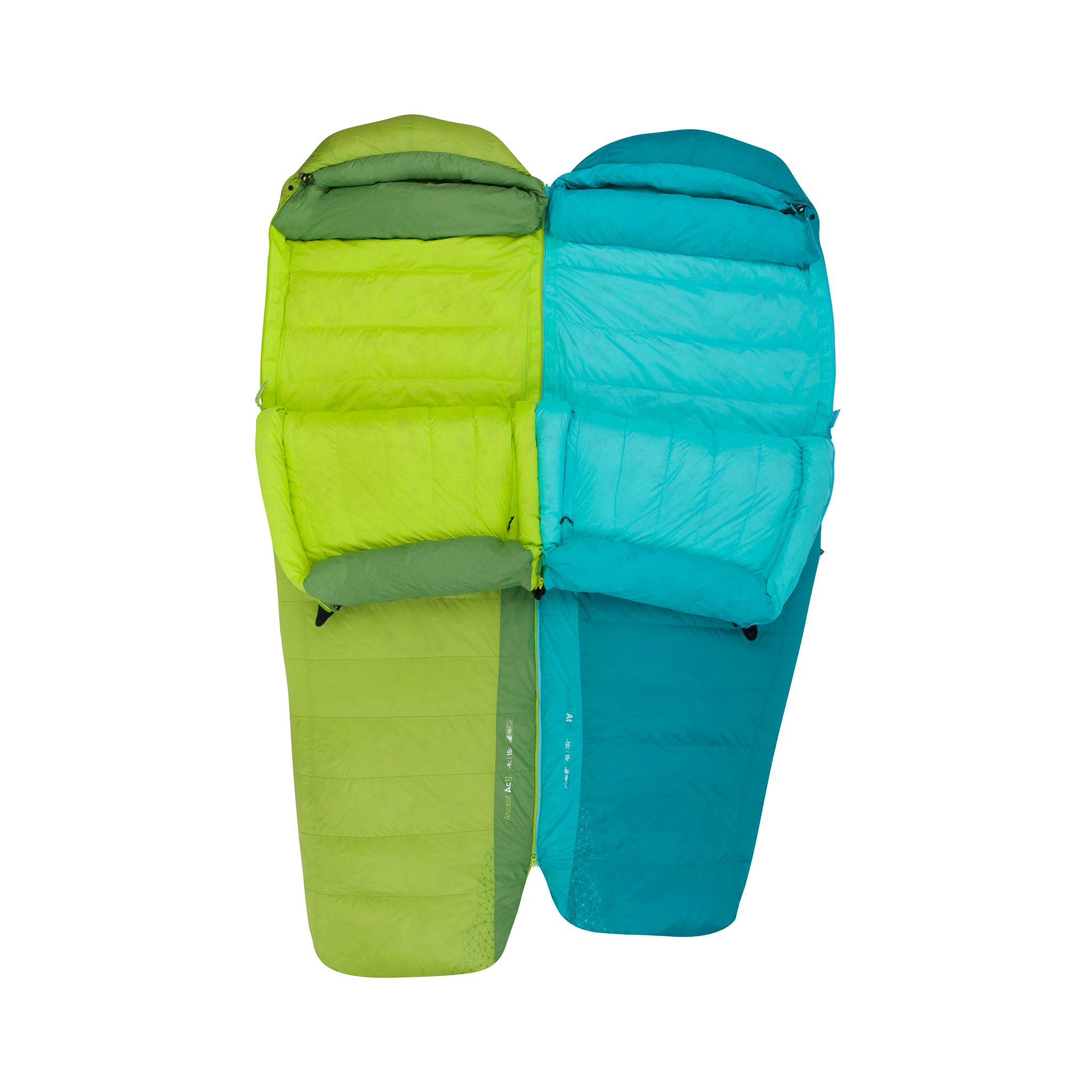 Ascent Down Sleeping Bag _ zips together for couples