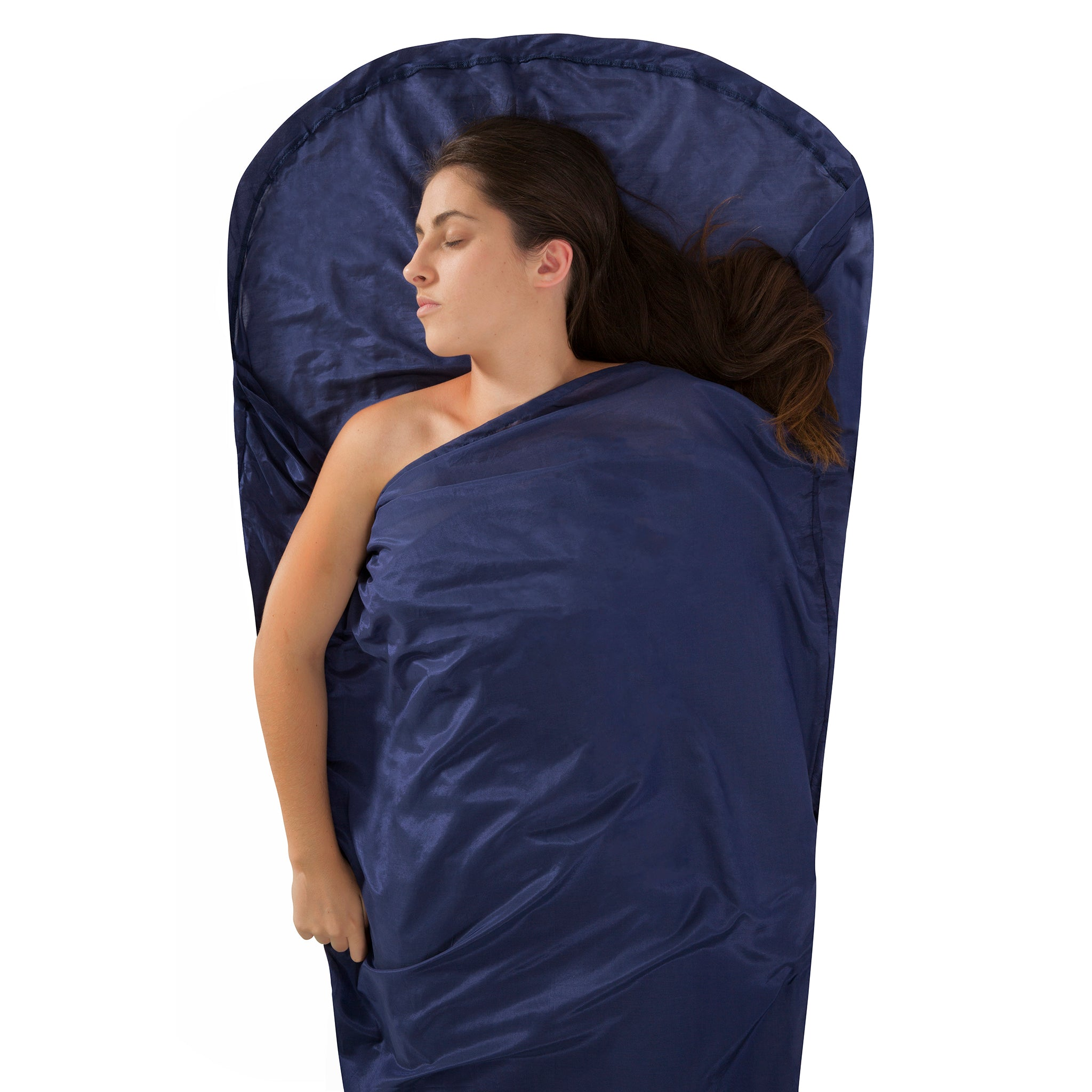 Silk-Cotton Blend Travel Sleeping Bag Liner _ mummy