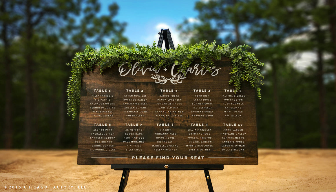 Find Your Seat Wedding Welcome Sign, Seating Chart Sign (GP1344)