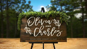Established Date Wedding Welcome Sign (GP1335)