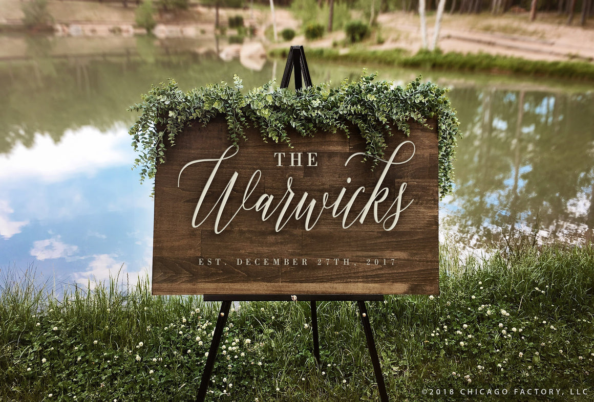 Last Name Sign Family Name Sign Wedding Welcome Sign (GP1171)