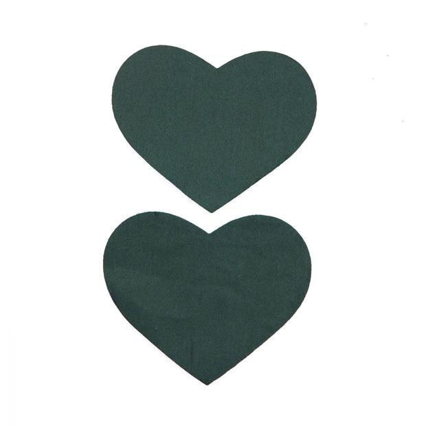 Forest Green Heart Shape Satin Nipple Pasties and Tassels – Appeeling