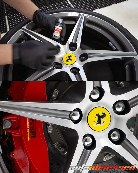 A wheel coating gives the wheels and brake calipers a layer of protection that keeps them looking clean longer, and makes them easier to wash when the