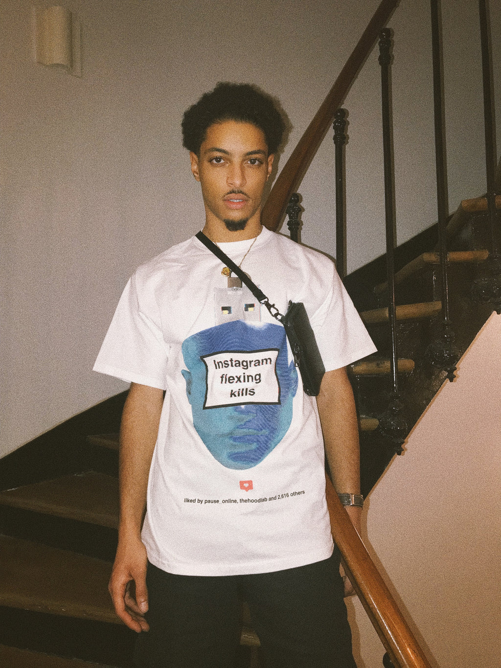 PAUSE x Hoodlab 'Instagram Flexing Kills' Tee