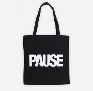 PAUSE - Black Tote Bag