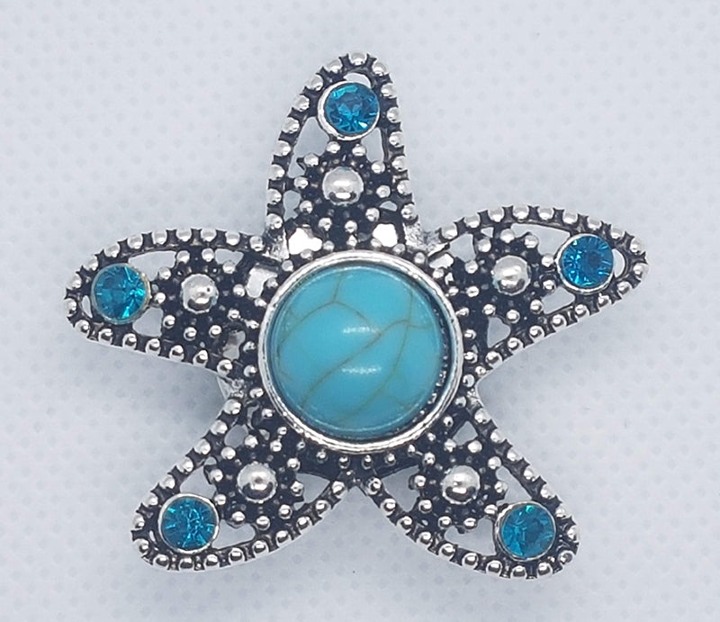 Large starfish with turquoise stone