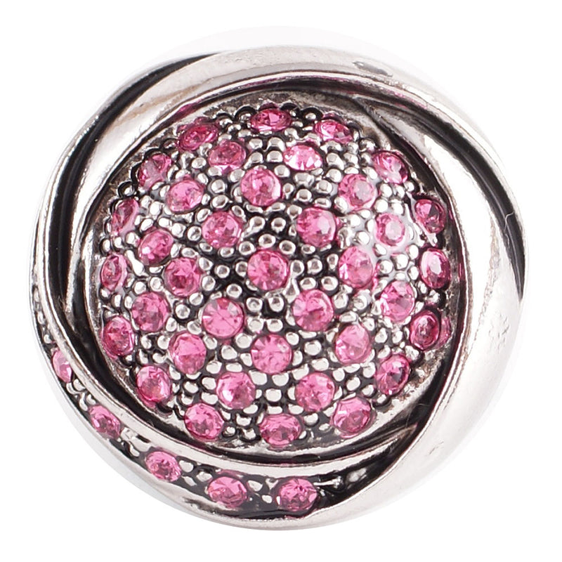 Round gem with pink rhinestones