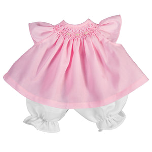 Pink Angel Sleeve Smocked Doll Dress AYR 5066 DD PK