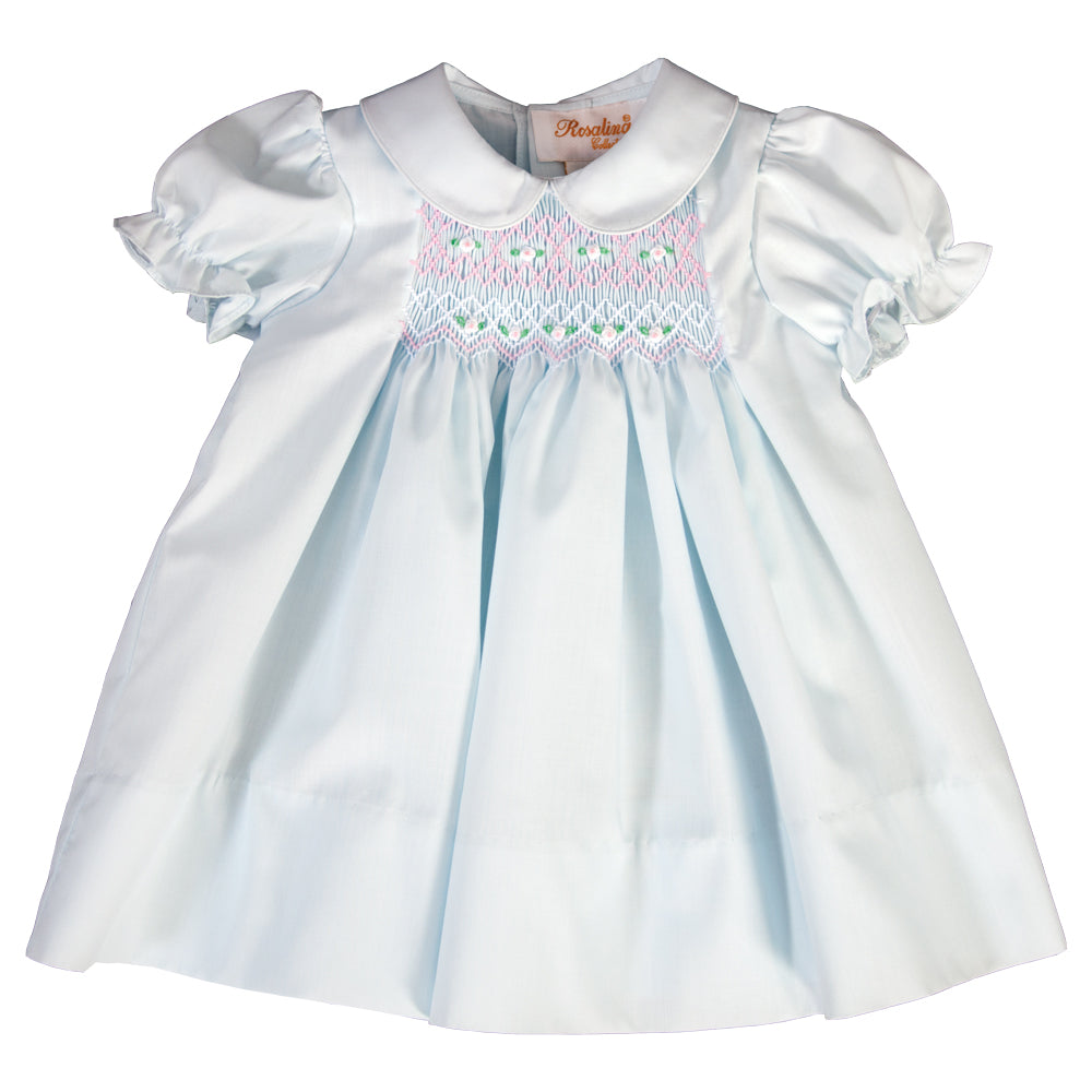 Light Blue Smocked Baby Dress 19SP 6380 D