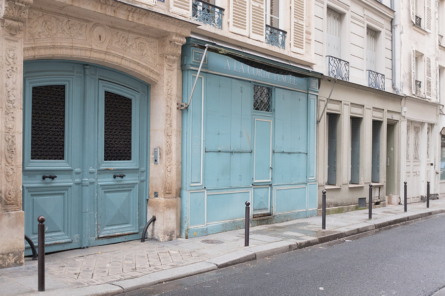 Blue Door Left Bank Street in Paris - Every Day Paris