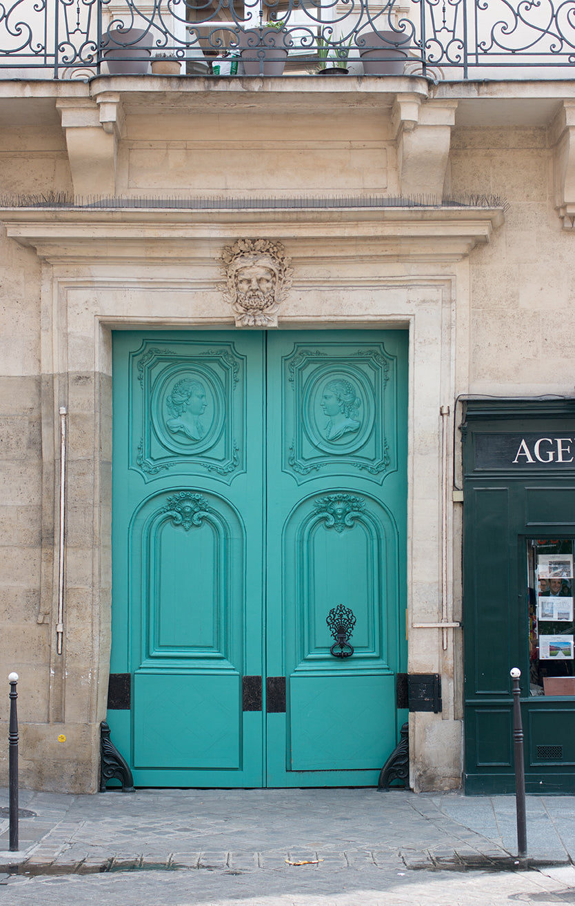 Mint Green Door in The Marais - Every Day Paris