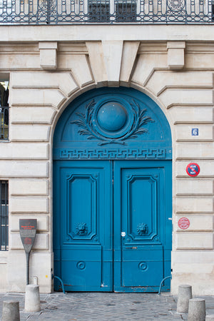 Left Bank Blue Door - Every Day Paris