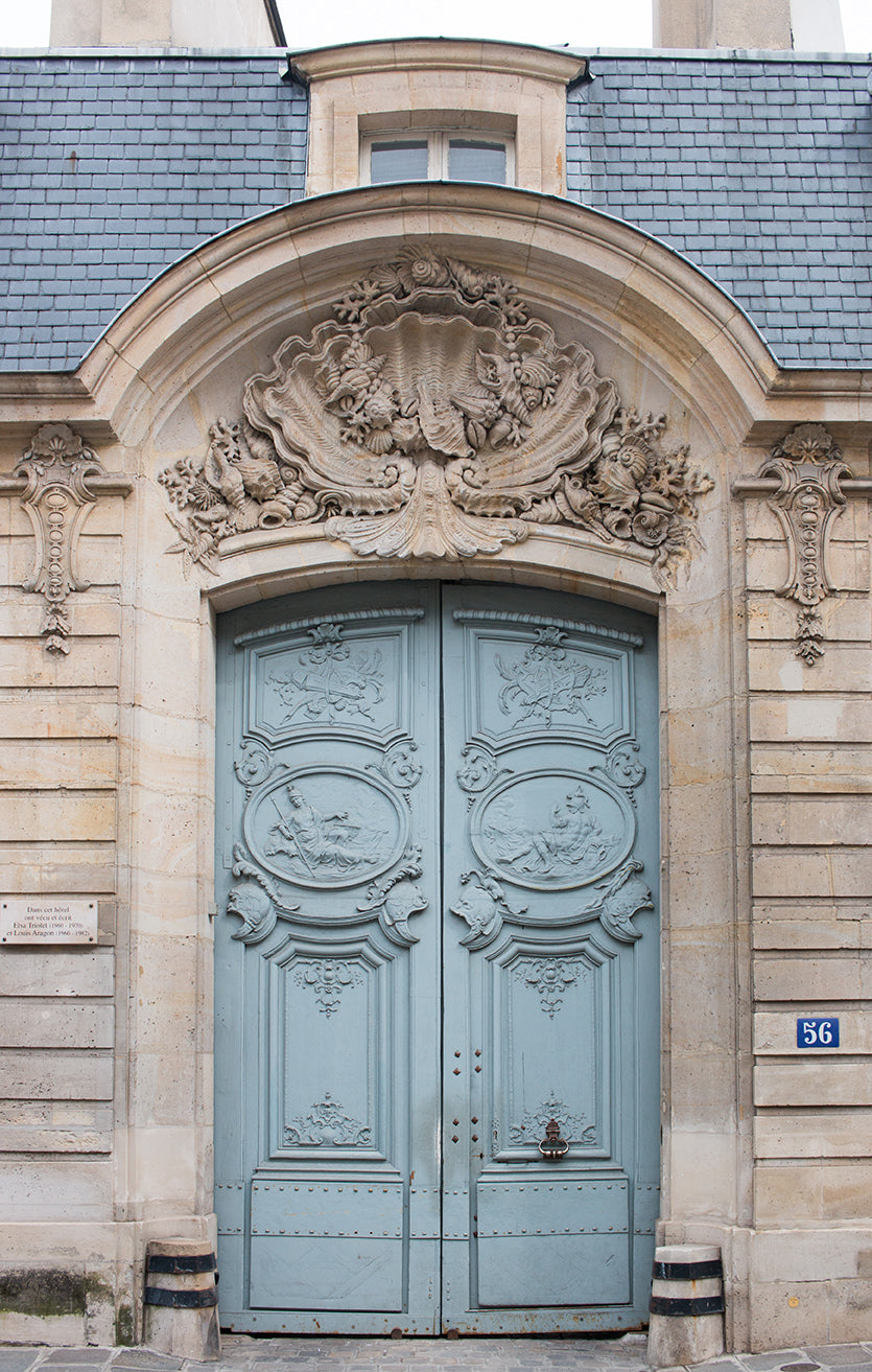 Blue Door on The Left Bank - Every Day Paris
