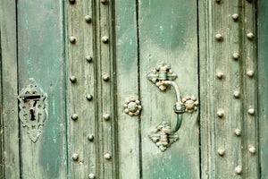 Mint Green Doors in Southern France - Every Day Paris
