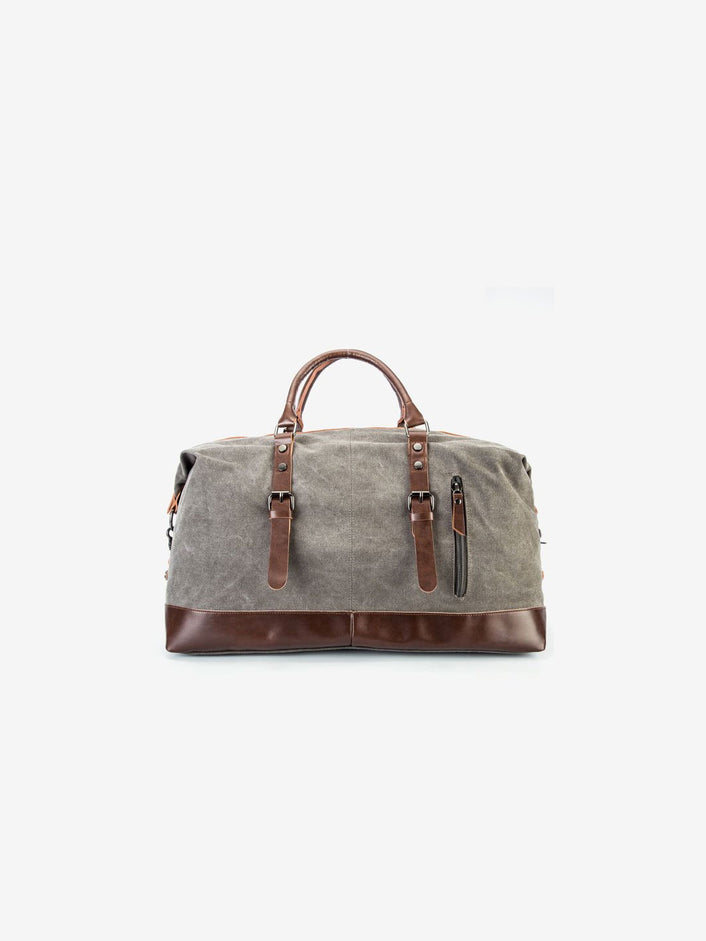 The Canvas Weekender Bag in Taupe