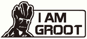 "Guardians of the Galaxy ""I am Groot"" Vinyl Decal/Sticker"