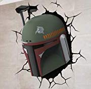 Star Wars Boba Fett 'Through the Wall'Color Vinyl Decal