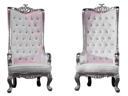 ELIZABETH THRONE CHAIR PAIR - PLATINUM
