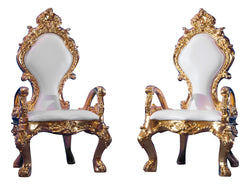 LE PETITE FLEUR de LIS THRONE CHAIR - GOLD