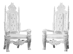McQUEEN THRONE CHAIR - WHITE