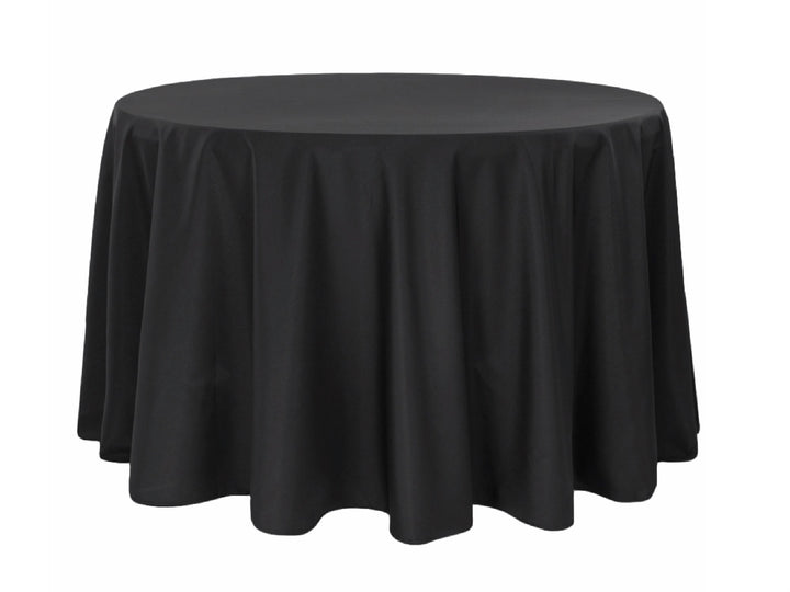 "120"" ROUND POLY LINEN - BLACK"