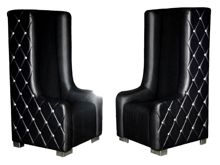 ROYALTY DIAMOND THRONE CHAIRS - BLACK