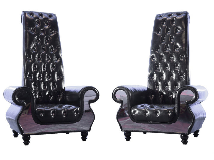 STUDIO 93 THRONE CHAIR PAIR - BLACK