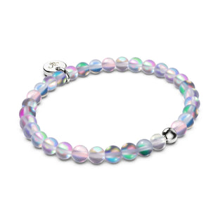 Grey | .925 Sterling Silver | Mermaid Glass Bead Bracelet