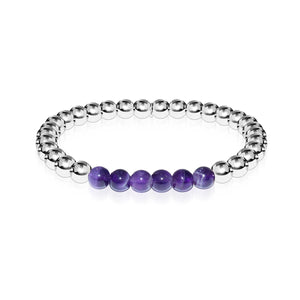 Admiration | Silver | Amethyst | Expression Bracelet