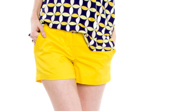 Julie Brown Yellow Belted Shorts