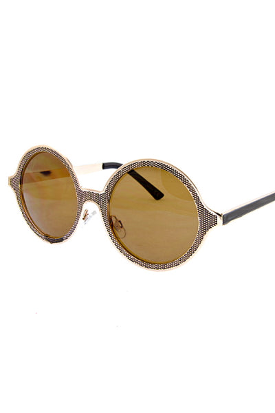 Mesh Print Metallic Sunglasses