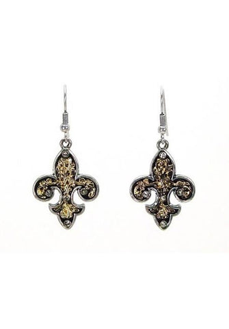 Fleur de Lys Dangling Earrings