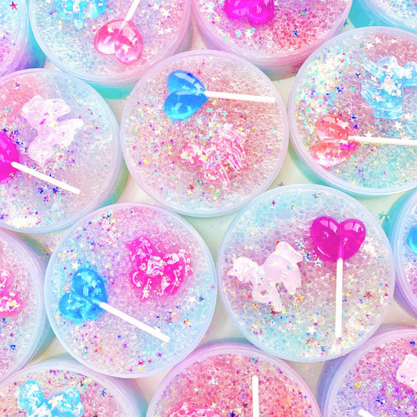 Unicorn Rock Candy Slime