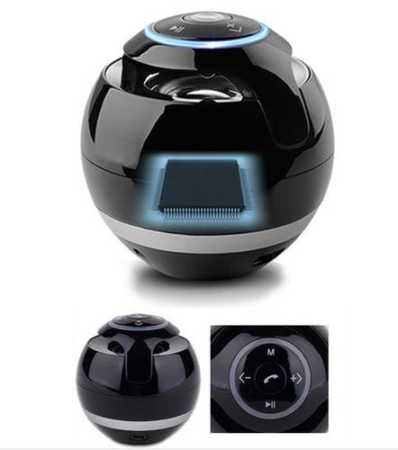 Mini Round Bluetooth Speaker with LED Light