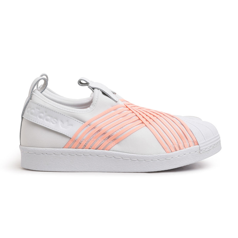 adidas Originals W's Superstar Slip On | White Pink - CROSSOVER