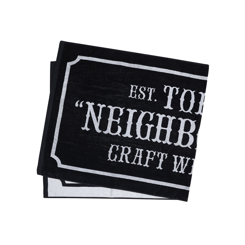 Neighborhood Bar & Shield Small Towel | Black - CROSSOVER