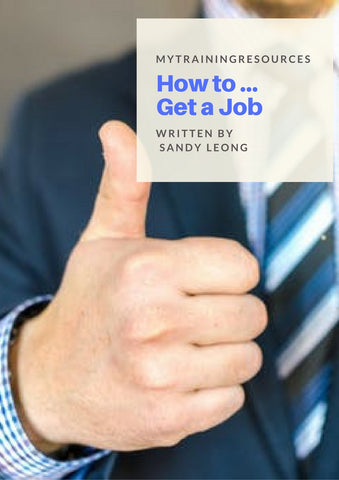 How to Get a Job Training Manual