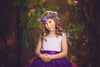 The Juliet Dress: Lavender Satin Bodice with Plum Tulle