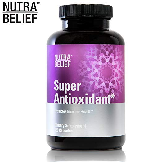 NutraBelief Daily Antioxidant Pills, Powerful Superfood Blend (Acai Berry & Pomegranate) Promotes Immune Health, Made in The USA - 120 Capsules