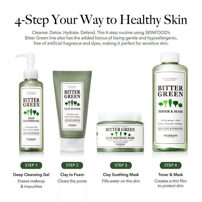 Skinfood Bitter Green Cleansing Foam Clay, 170 g (6.0 oz.)