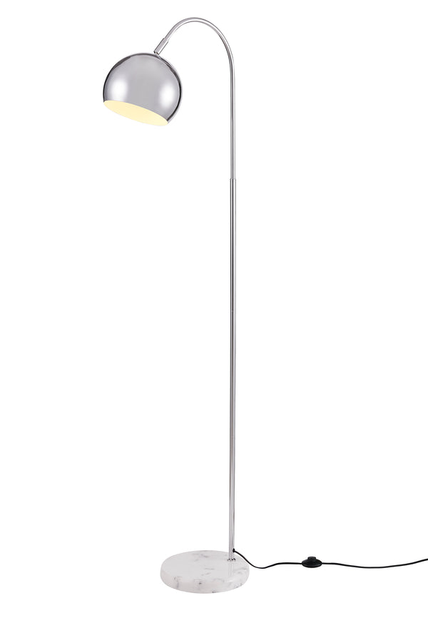 [Archiology] Arched White Floor Lamp, Modern Light with White Marble Base 61""