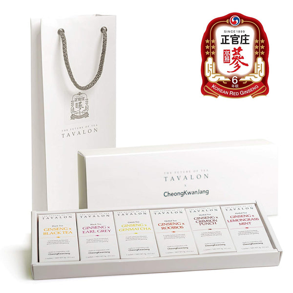 TAVALON x CheongKwanJang Organic Korean Red Ginseng Tea Set (12 Sachets)