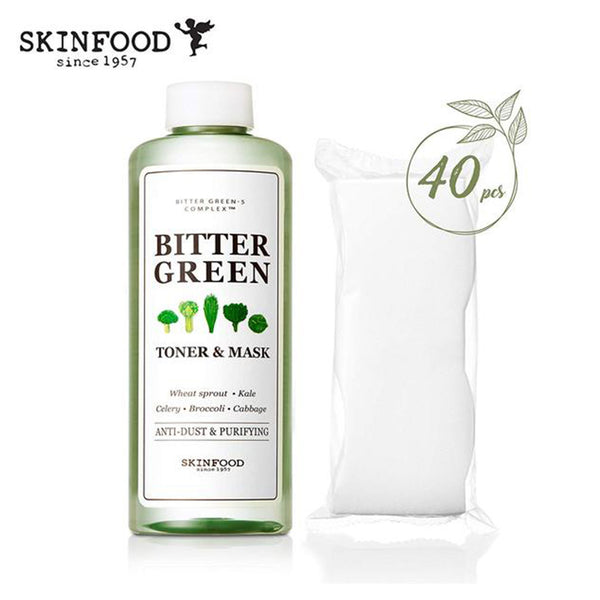 Skinfood Bitter Green Toner & Mask 40 pcs, 300 ml (10.1 fl.oz.)