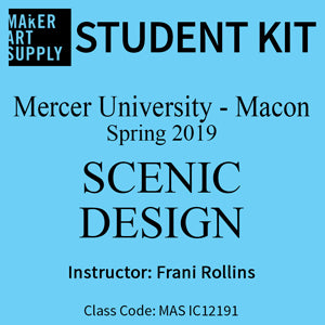 Student Kit: Mercer University Scenic Design - Spring 2019/Rollins