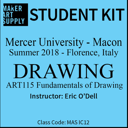 Student Kit: Mercer University Fundamentals of Drawing - Summer 2018/O'Dell
